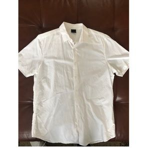 White oxford ASOS Short-sleeve Shirt